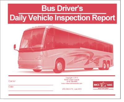Imprinted - Daily Vehicle Inspection Report - Custom