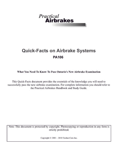 Practical Airbrakes – Quick-Facts on Airbrake Systems (25-Pack)