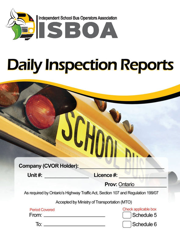 School Bus - Daily Inspection Reports - ISBOA
