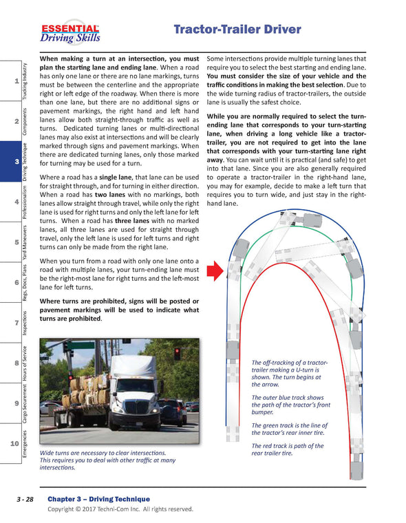Essential Driving Skills - Professional Truck Driver Textbook, Canadian Edition