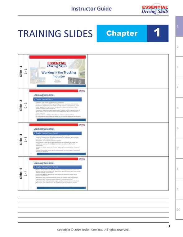 Essential Driving Skills - Instructor Guide, Chapter Format (EDS-204)