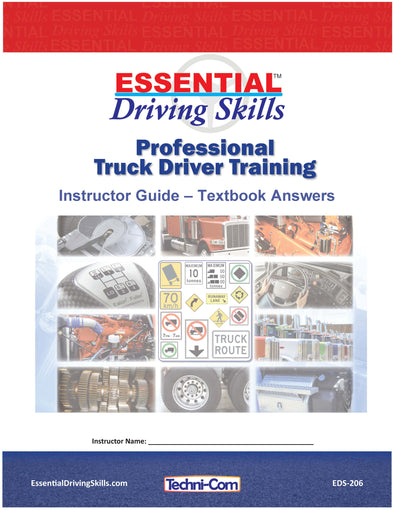 Essential Driving Skills - Instructor Guide, Textbook Answers (EDS-206)
