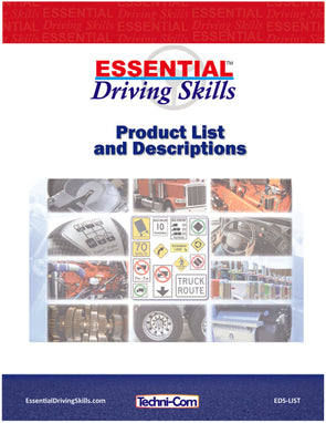Essential Driving Skills - Product List and Descriptions (EDS-LIST)