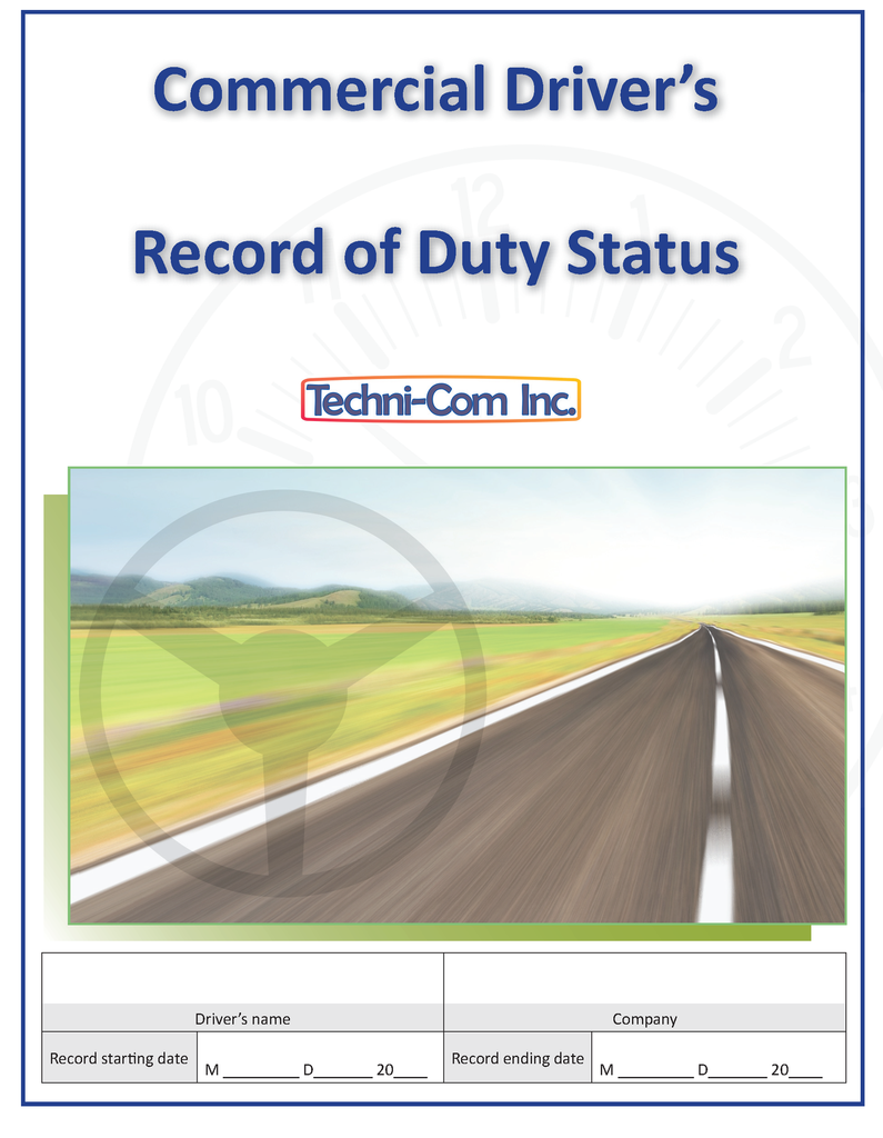 Commercial Driver's Record of Duty Status