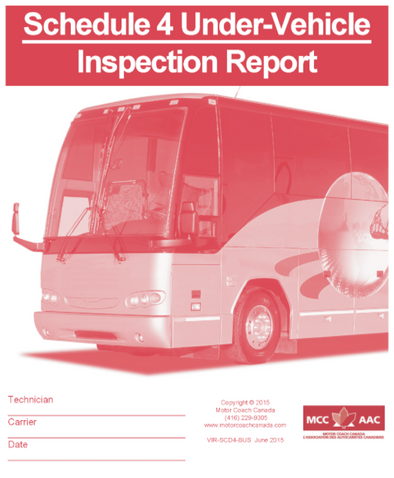 Schedule 4 Under-Vehicle Inspection Report