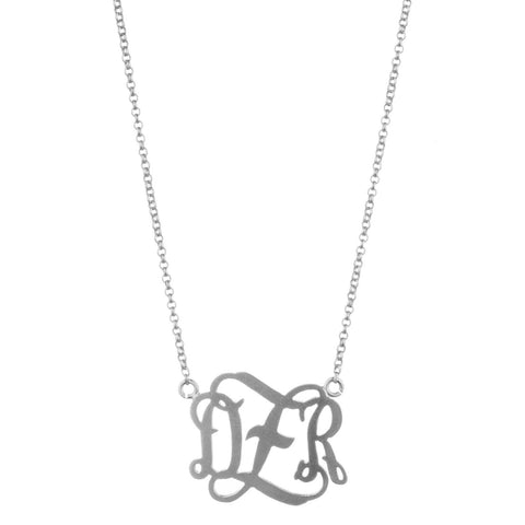 "1/2"" or 1""  Delicate Monogram Necklace"