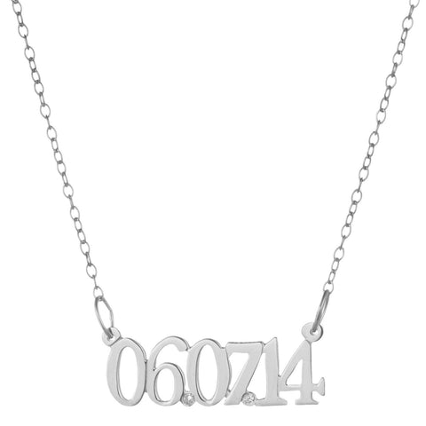 Special Date Necklace Sterling CZ