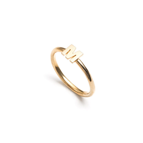 Letter Stacking Ring Gold Vermeil