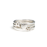 Heart Stacking Ring Sterling