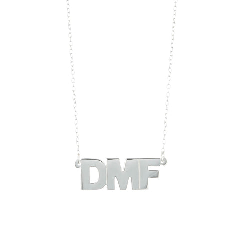 HORIZONTAL BLOCK MONOGRAM NECKLACE