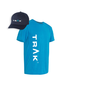 TRAK Men's T-Shirt & Hat Bundle