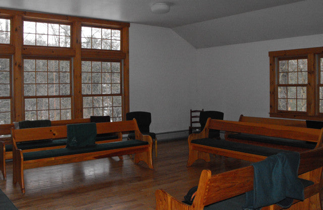 Interior photo of Plainfield Meeting House (Quakers)