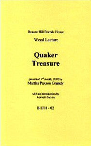 Quaker Treasure (Paperback)