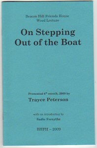 On Stepping out of the Boat (Paperback)