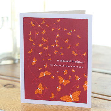 Greeting Card:   A thousand thanks  . . .     (William Shakespeare)