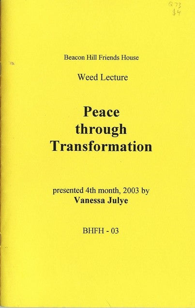 Peace through Transformation