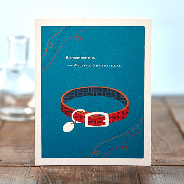 Greeting Card:     Remember Me . . .     (William Shakespeare)