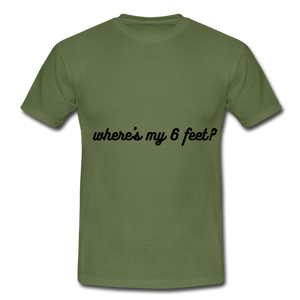 Socially distanced T - military green