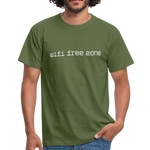 Wifi Free Zone T - military green