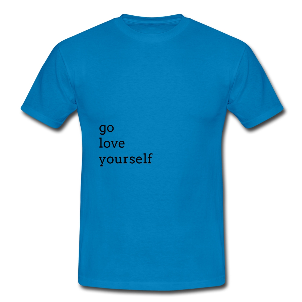 Go Love Yourself - royal blue