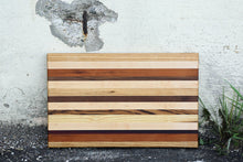 Load image into Gallery viewer, Edge grain cutting boards made by Mac Cutting Boards in San Francisco, CA.  All woods are sourced in the United States.