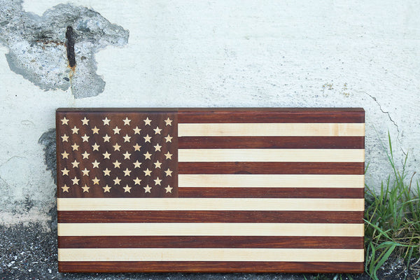 American Flag Cutting Board w/50 Stars