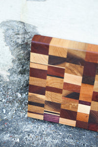 """Chaos"" End Grain Cutting Board handmade by Mac Cutting boards from San Francisco, CA"