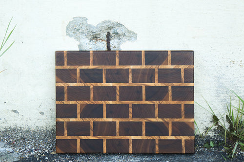 Brick Wall Cutting Board (End Grain)
