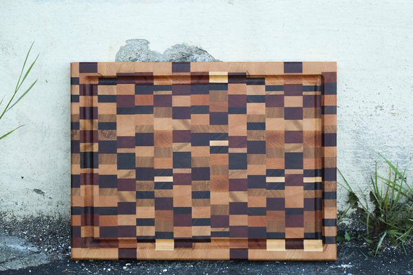 "End Grain ""Chaos"" Wood Cutting Board"