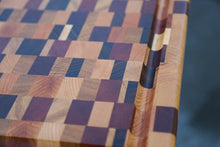 "Load image into Gallery viewer, ""Chaos"" Wood Cutting Board (End Grain)"