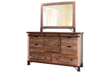 Bureau 6 tiroirs et porte coulissante - International Furniture - 002938