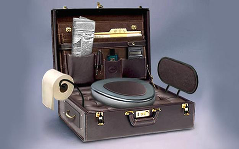 Creative Unusual Bathroom Toilets Suitcase Shaped Toilet Seat