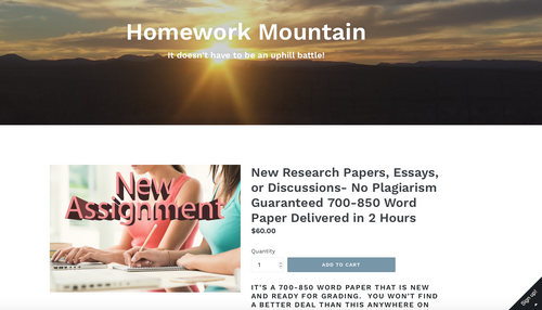 HOMEWORK MOUNTAIN FULLY AUTOMATED ACADEMIC WRITING TUTORING WEBSITE BUSINESS INCLUDES 500 ARTICLES