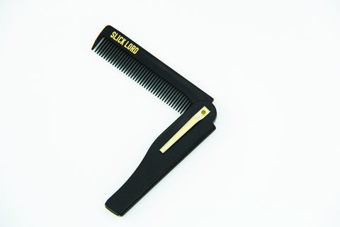 Slick Lord Black/Gold Folding Comb