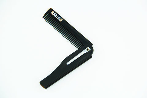 Slick Lord Black/Silver Folding Comb