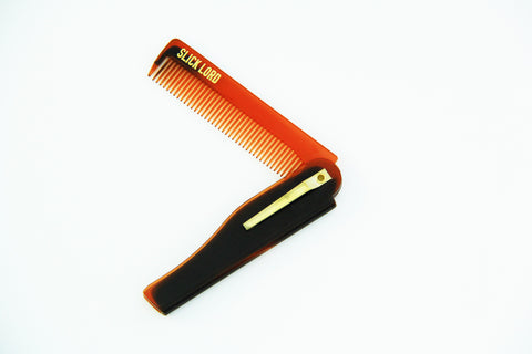 Slick Lord Tortoise/Gold Folding Comb