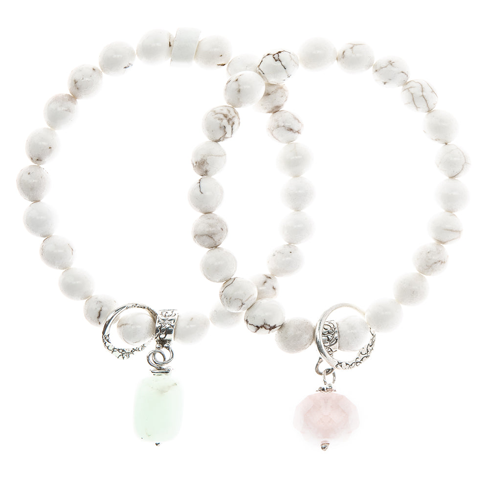 BBT37SS | PINK QUARTZ, BLUE AQUAMARINE OR GREEN DROPLETTE