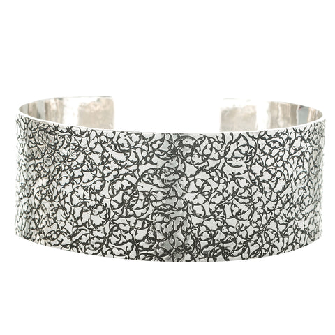 BC92B A | SIGNATURE PATTERN STERLING CUFF