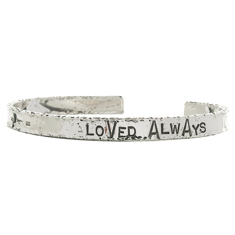 BCHL44 | WORD CUFF . LOVED ALWAYS | STUDIO SUZAN