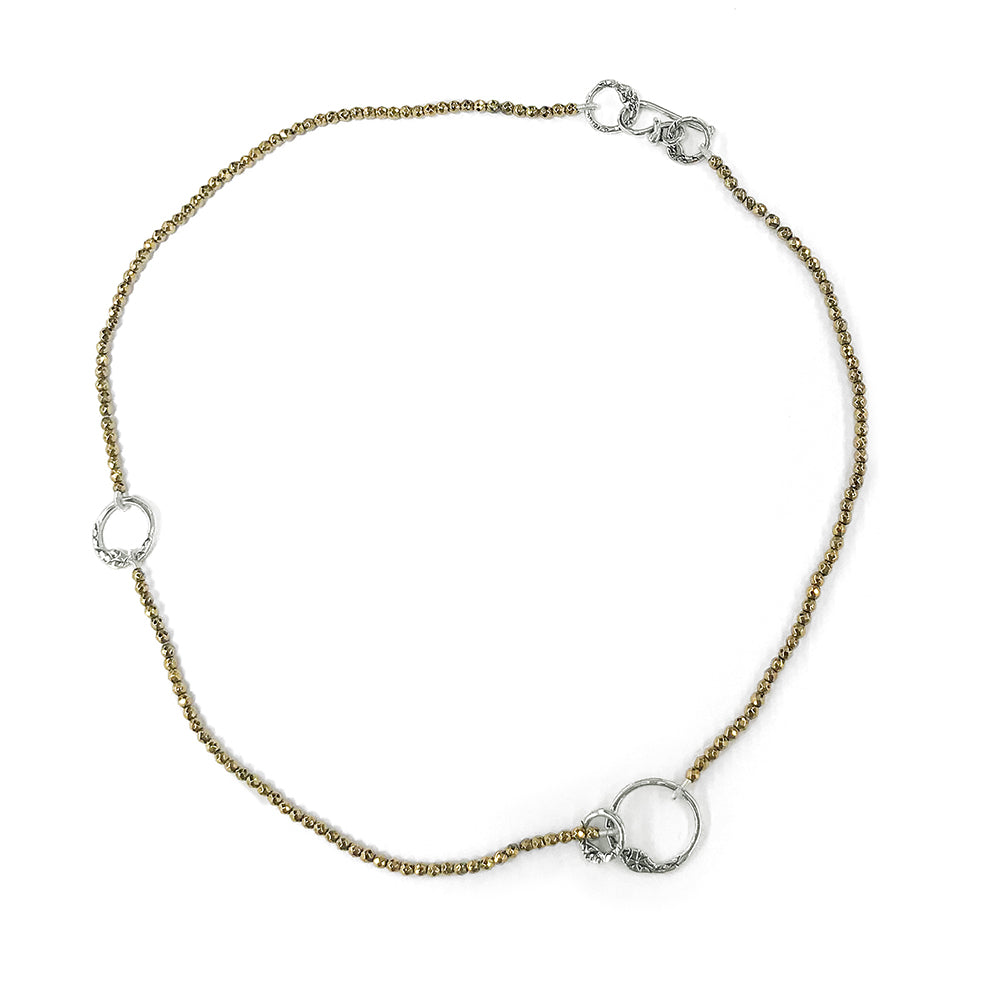 NB59 GOLD OR SILVER BEADED CHOKER | STUDIO SUZAN