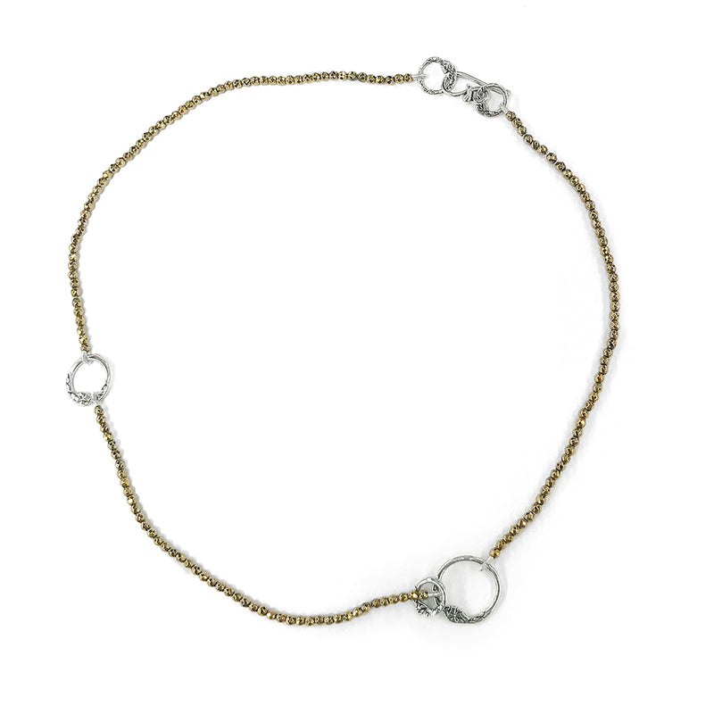 NB59 | GOLD OR SILVER BEADED CHOKER