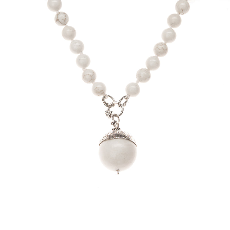 NBAC7SS-ASSOR | SHORT STATEMENT ACORN NECKLACE