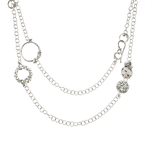 NCH242ALT  WRAP AROUND SILVER TREASURES NECKLACE