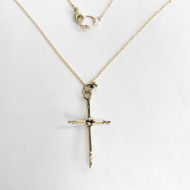 NCHCR21B-GOLD | GOLDEN DELICATE CROSS NECKLACE