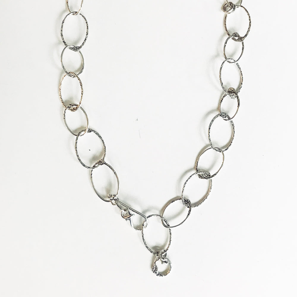 NLO58B | HANDMADE STERLING LOOP NECKLACE | STUDIO SUZAN