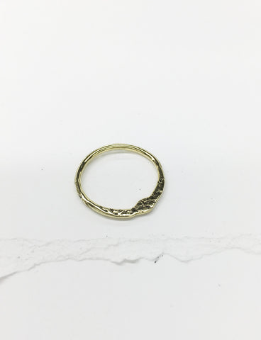 R21-14k YELLOW GOLD | Golden Stacking Ring
