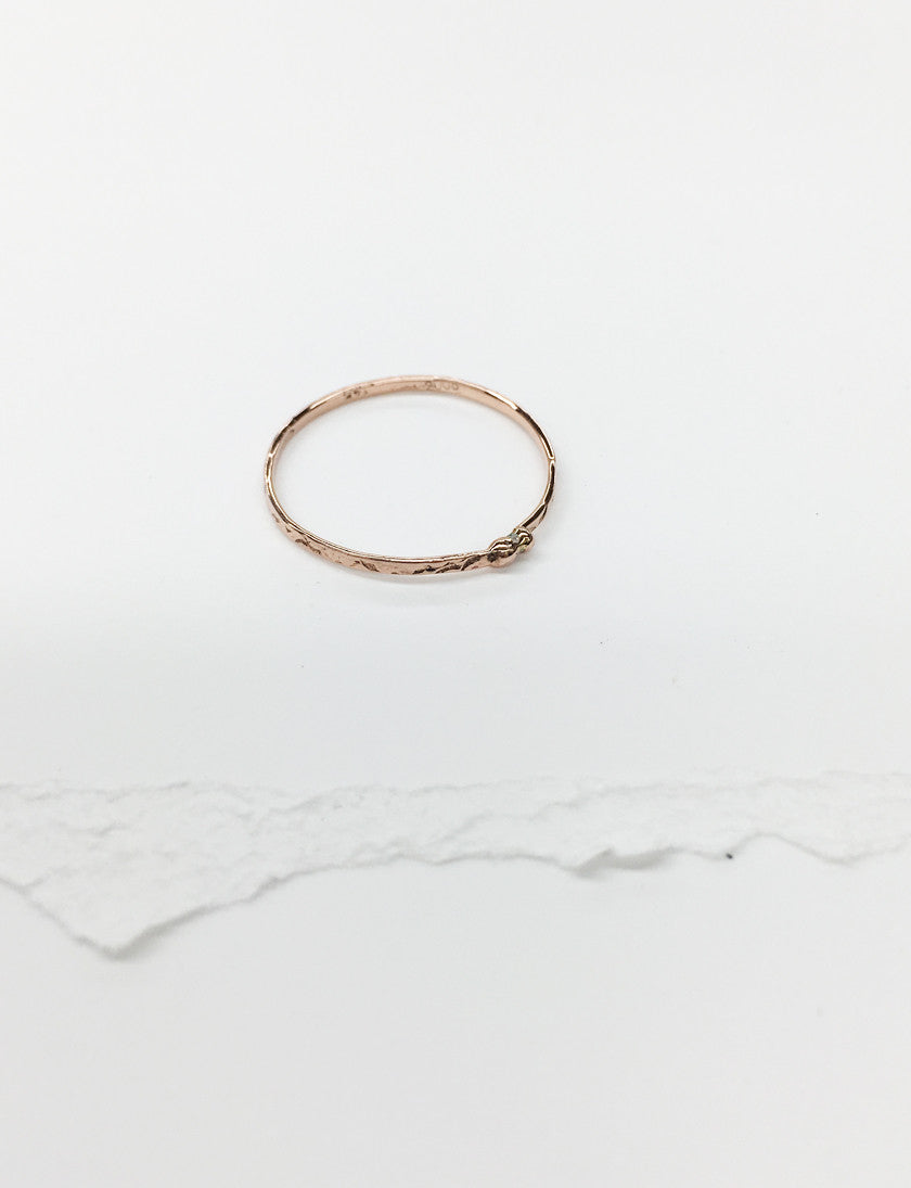 R30-14k ROSE GOLD | Best Button Ring