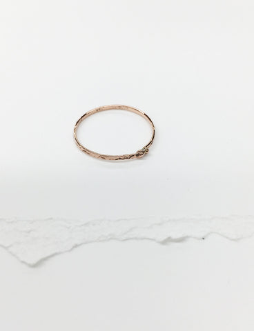 R21-14k ROSE GOLD | Golden Stacking Ring