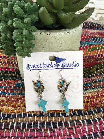 Sweetbird love heals earrings