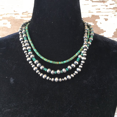 Navajo pearls and turquoise layers
